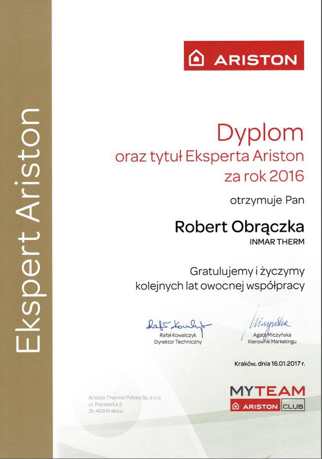 certyfikat-ariston